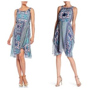 Nanette Lepore chiffon faux wrap dress
